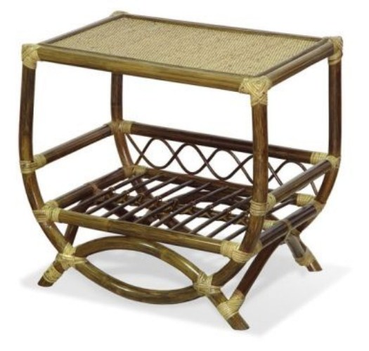 Столик для телевизора из ротанга
