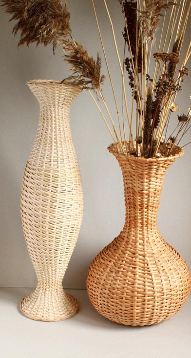 Напольные вазы из газетных трубочек картинки